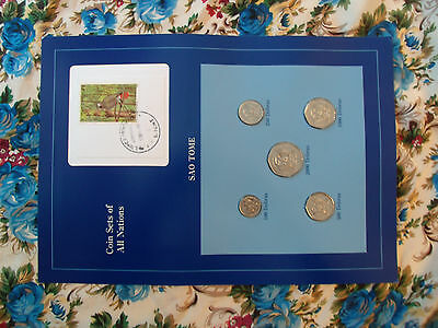 Coin Sets of All Nations Sao Tome All coins 1997 UNC  Parot Stamp