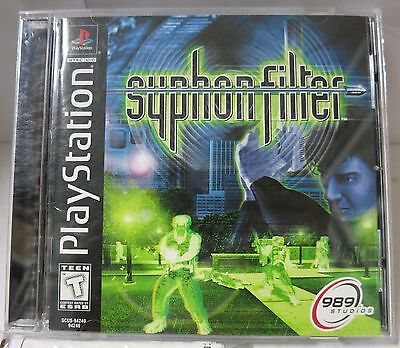 Sony Playstation PS1 PS2 Syphon Filter (PlayStation, 1999) Complete TESTED