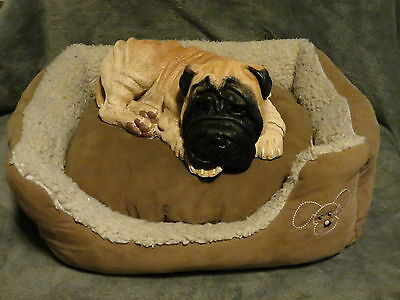 Shar Pei Puppy Basket / Bed Buddy Decorative Life Like Puppy Statue