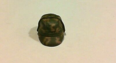 """G. I. JOE HAT FOR 12"""" DOLLS 1/6TH SCALE - TWO-TONE CAMO HAT WITH EXTRA FLAPS"""