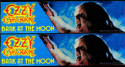 Ozzy - Bark At The Moon 1984 Bumper Sticker  RARE