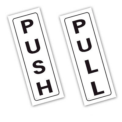 PUSH PULL Vinyl Printed Stickers Hotel Pub Office Kitchen Shop Signs(STKPN00060)