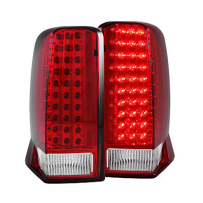 ANZO 311120 Set of 2 Red/Clear Lens LED Tail Lights for Cadillac Escalade/ESV