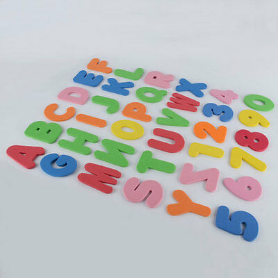 36pcs  A-Z Letters & 0-9 Numbers Foam Floating Bath Tub Stick Toddler Child Toy