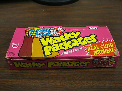 1973 Topps Gum Co Wacky Packages Cloth Sticker Display Box  RARE!