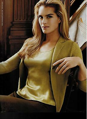2005 BROOKE SHIELDS for  Jones New York Collection Magazine Print Ad 2-pg *