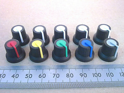 Qty 10 : Control Knob for 6mm D-Shaft