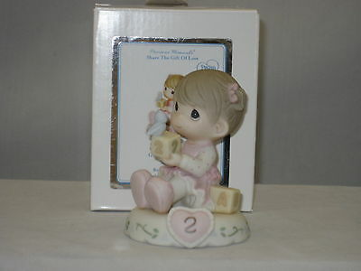Precious Moments * Growing In Grace Age 2 Brunette (New Color) 142011B NIB