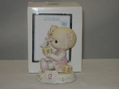 Precious Moments * Growing In Grace Age 2 Blonde (New Color) 142011 NIB