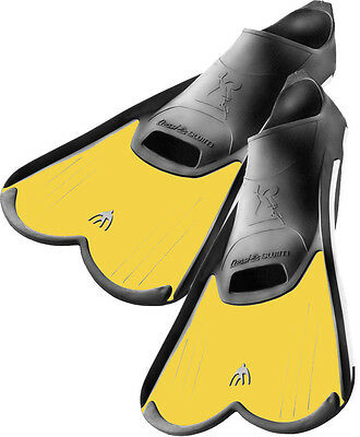 Cressi Light  Pool & Training  Closed Foot Fins, KIDS Yellow 12.5-13.5