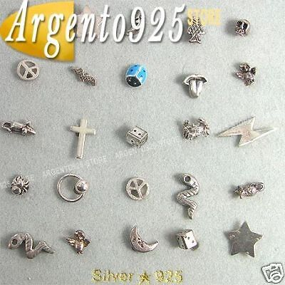 25 MINI ORECCHINI in Argento 925 LOTTO STOCK ab