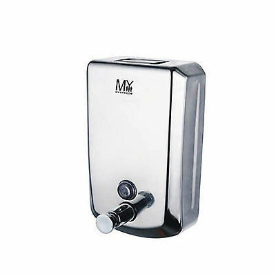 Curva 1000 mL Commercial Grade Stainless Steel Bathroom Wall Soap Dispenser