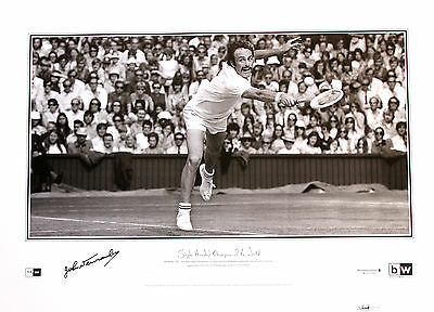 New Single Handed Champion of the World - John Newcombe Hand Signed Lithograph