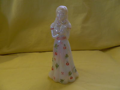 FENTON HANDCRAFTED LADY WITH BABY EUC