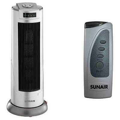 Sunair 2000W Ceramic Tower Heater Oscillating base/Remote control/7.5 Hour timer