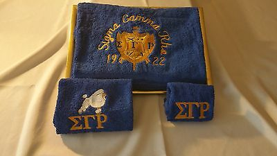 Sigma Gamma Rho Bath Towel Set