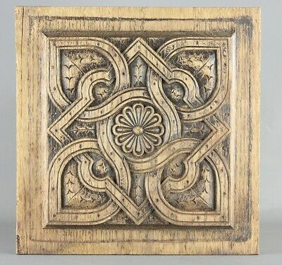 Antique French Panel salvaged wood carved Piece