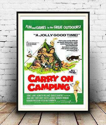 Carry On Camping Peter Butterworth Josh Fiddler BW POSTER