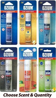 OZIUM Scent Air Sanitizer Freshener 0.8 Car Home Office Smoke & Odor Eliminator