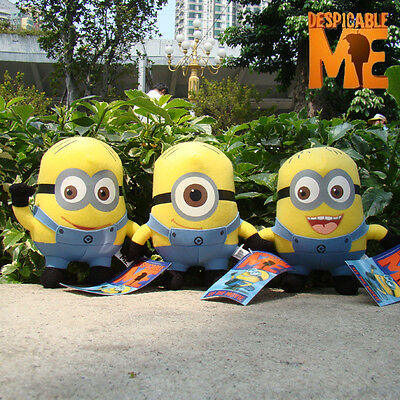 Despicable Me Minions Plush Toy Stuffed Animal Set Of 3  Jorge Dave Stewart Doll