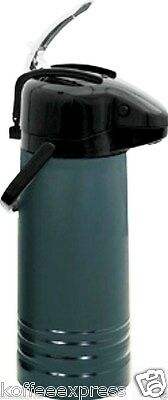 AIR POT GLASS 2.2 Liter Val-u Air Lever action  glass lined black  NVALB-22bk