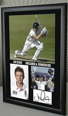 "Joe Root England & Yorkshire Cricket Framed Canvas Tribute Signed   ""Great Gift"""