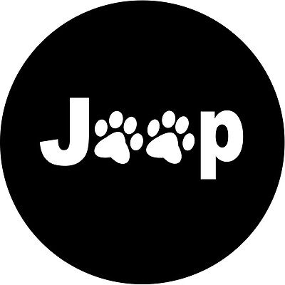 Jeep Paws - Custom Spare Tire Cover - Wheel Cover(all sizes available)
