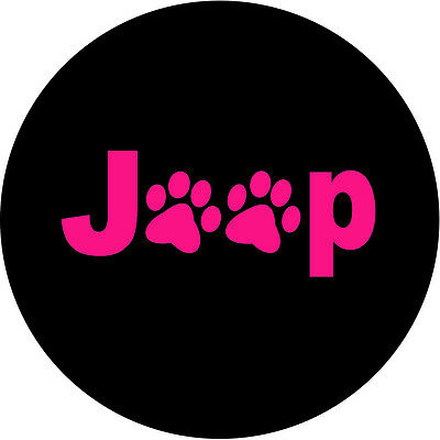 Jeep Paws Pink Spare Tire Cover Wheel Cover rv camper trailer(all sizes avail)