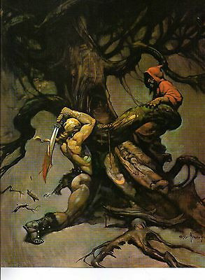 "1980 Full Color Plate ""Tree Of Death"" by Frank Frazetta Fantastic GGA"