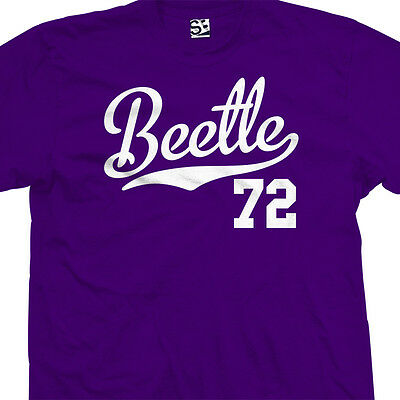 Beetle 72 Script Tail Shirt - 1972 Classic Volkswagen VW Bug - All Size & Colors