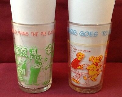 Hot Dog and Reggie Juice /Jelly Glasses 1971 1973