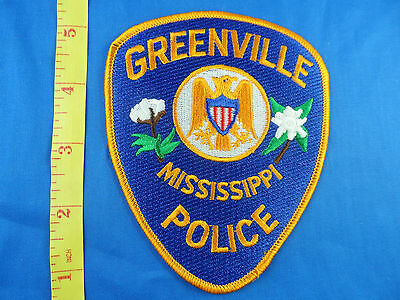 GREENVILLE MISSISSIPPI POLICE  CLOTH PATCH- EMBROIDERED- FREE US SHIPPING
