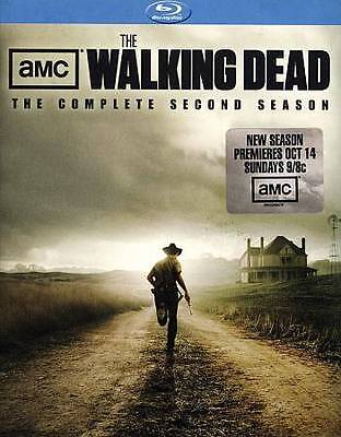 The Walking Dead: The Complete Second Season (Blu-ray Disc, 2012, 4-Disc) NEW !!
