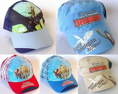 HOW TO TRAIN YOUR DRAGON CAPS HAT 3 Designs 50,52,54cm Hiccup & Toothless NWT