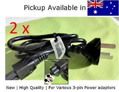 2xNew short Laptop Printer 3 Prong 3 pin Power Cord Cable, 80cm micky mouse plug