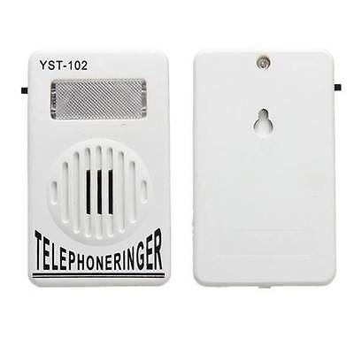 White ON OFF Switch Telephone Ring Sound Amplifier Light Flasher Bell Ringer