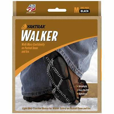 Yaktrax Walker M SIZE UK 8-9 SNOW & ICE GRIP for Shoes & Boots BNIB UNISEX BLACK