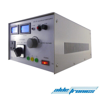 Variable Isolation Safety Transformer IN 240V / OUT adjustable 1500VA Variac PSU
