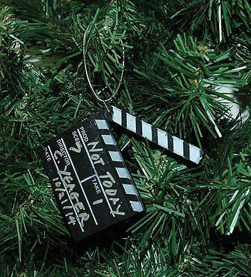 Movie Clapper Board, Clapboard Christmas Ornament