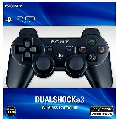 Sony PS3 PlayStation 3 DualShock 3 Wireless Controller (BLACK) - NEW!