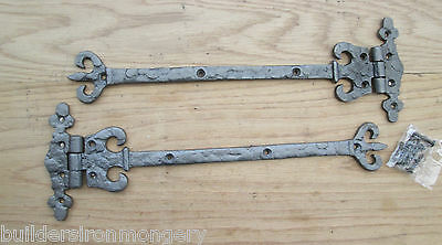 Antique Wrought iron ornate fancy Decorative Door Gate t-hinge Tee Hinges
