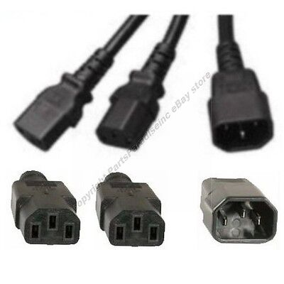 Server Power Adapter Cord//Cable 14awg 15amp AC UL $Shdi Lot10 3ft C19~C14//Kettle