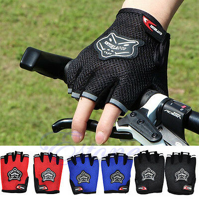 Outdoor Bike Bicycle Cycling Riding Mountain Antiskid Gel Half Finger Gloves New