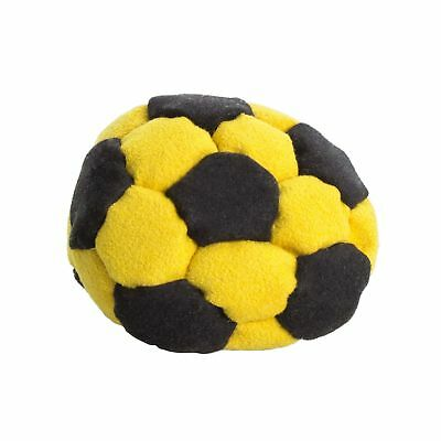 32 Panel Sand-Filled Footbag - Hack Sack-Black and Yellow
