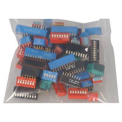 Grab Bag Dip Switches Assorted.50 2-12 Position. Lp Slider Rocker Std 2 pcs