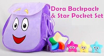 Dora Backpack Dora Explorer NEW Star Pocket Map Purple Soft Cute Great for Kindy
