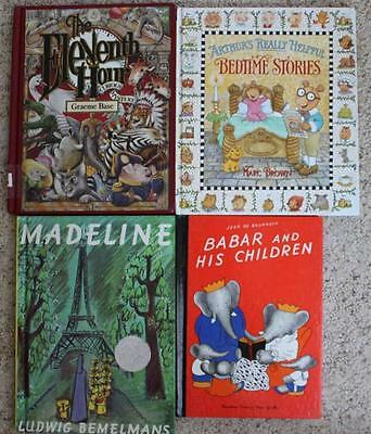 LOT 4 Oversize PICTURE STORY BOOKS ARTHUR'S HELPFUL BEDTIME MADELINE BABAR CHILD