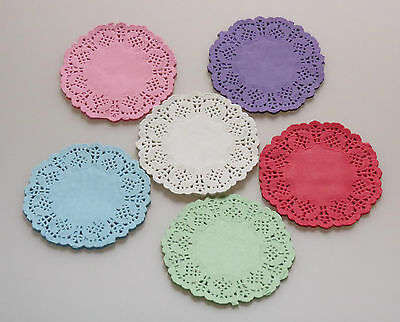 "Paper Lace Doilies 3.5"" 4.5"" 5.5"" colour Wedding Craft Scrapbooking Party Cake"