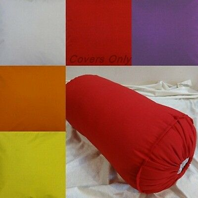 Round Bolster cover cotton yoga massage neck roll pillow removable