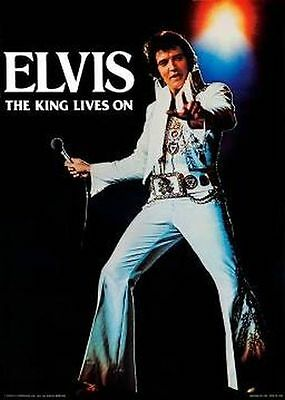 ELVIS PRESLEY - THE KING LIVES ON POSTER - 20x28 MUSIC 3822